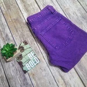 American Apparel Purple Acid Wash Slim Slack Jeans